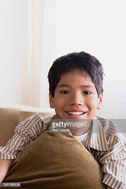 USA, California, Los Angeles, Portrait of smiling boy (10-11)