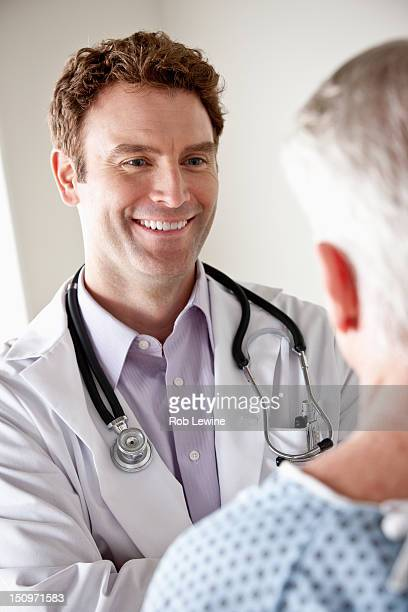 USA, California, Los Angeles, Senior patient and doctor