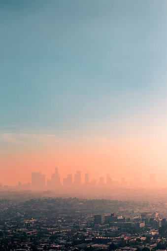 USA, California, Los Angeles, smog over Los Angeles - gettyimageskorea