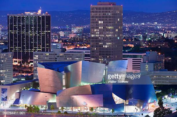 USA, California, Los Angeles, Walt Disney Concert Hall, elevated view