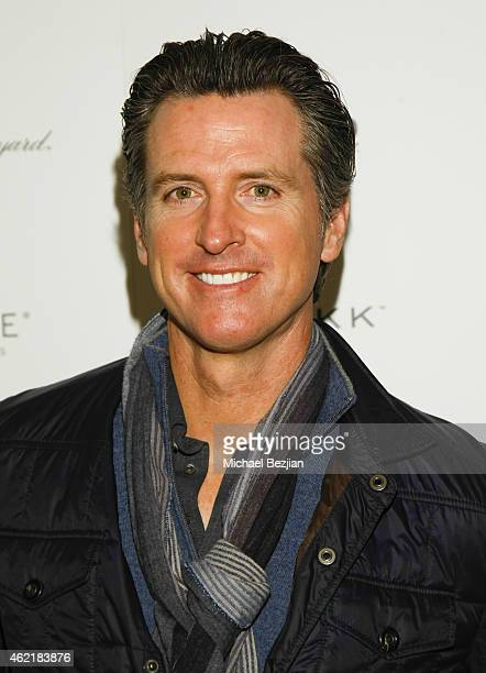 California Lt Governor Gavin Newsom attends St Regis Rand Luxury Host Film Reception For The Mask You Live In During Sundance 2015 Park City on...