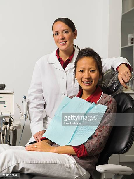 USA, California, Mission Viejo, Portrait of dentist with patient