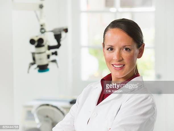 USA, California, Mission Viejo, Portrait of female dentist