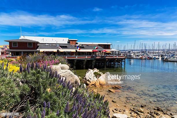 USA, California, Monterey County, Monterey, Restaurants at the Fisherman's Wharf