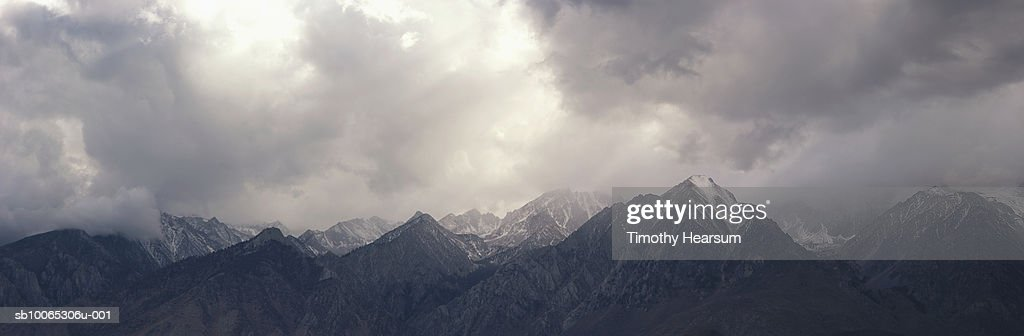 USA, California, near June Lake, Sierra Nevada peaks : Foto stock