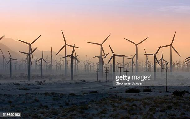 california, palm springs wind turbines in desert - palm springs california stock pictures, royalty-free photos & images