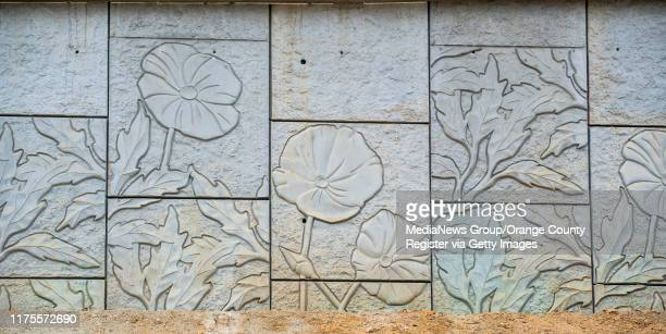 California poppies are stamped in the sides of the new Slater Avenue bridge in Fountain Valley on Wednesday, August 28, 2019. The bridge is scheduled...