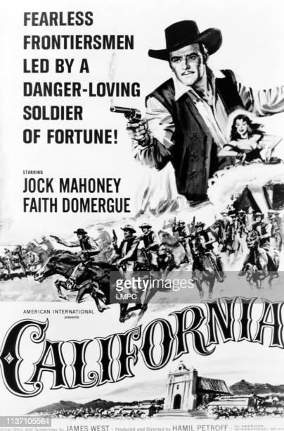 California poster Jock Mahoney Faith Domergue 1963
