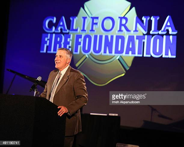 California Professional Firefighters President Lou Paulson speaks onstage at the California Fire Foundation Inaugural Gala Benefit at Sheraton...