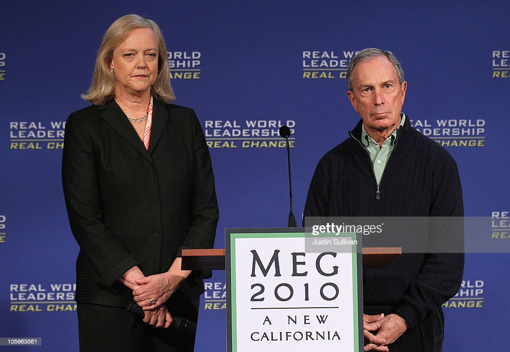 NYC Mayor Bloomberg Campaigns With Republican Gubernatorial Candidate Meg Whitman