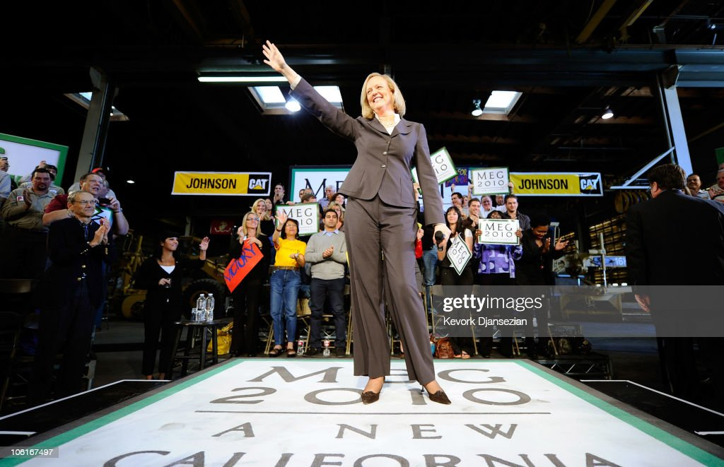 Meg Whitman Campaigns At A Business In Riverside County