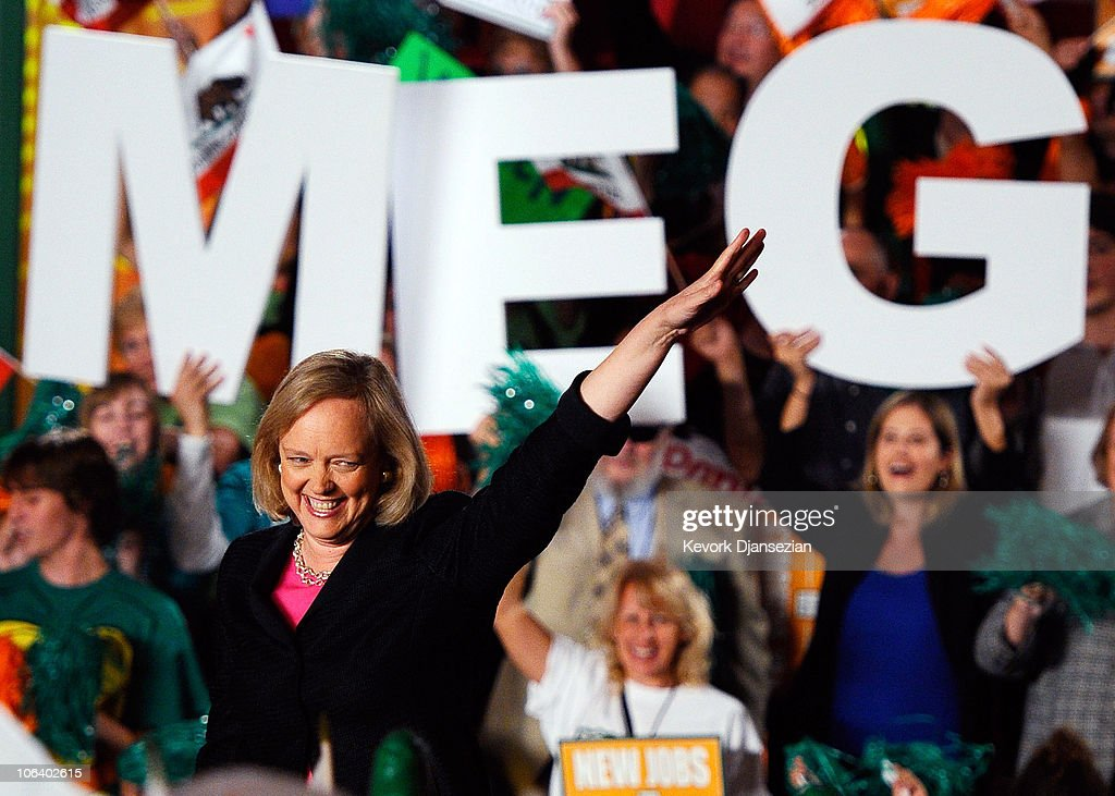 Meg Whitman Holds A Campaign Event In Burbank : News Photo