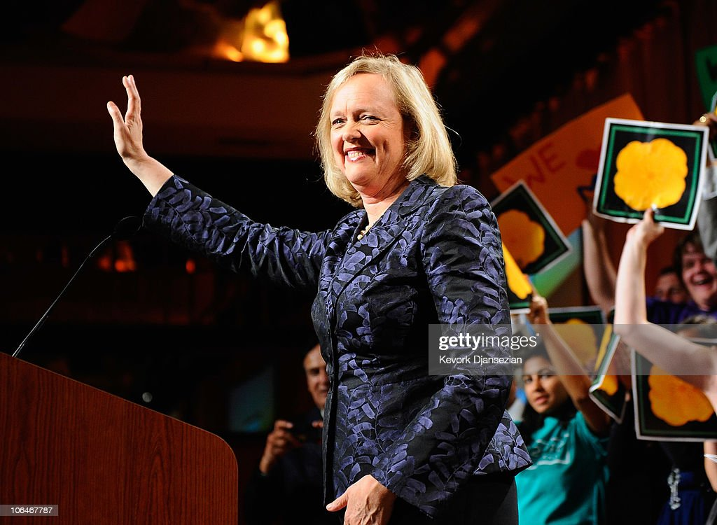 Meg Whitman And Supporters Attend Election Night Gathering : News Photo