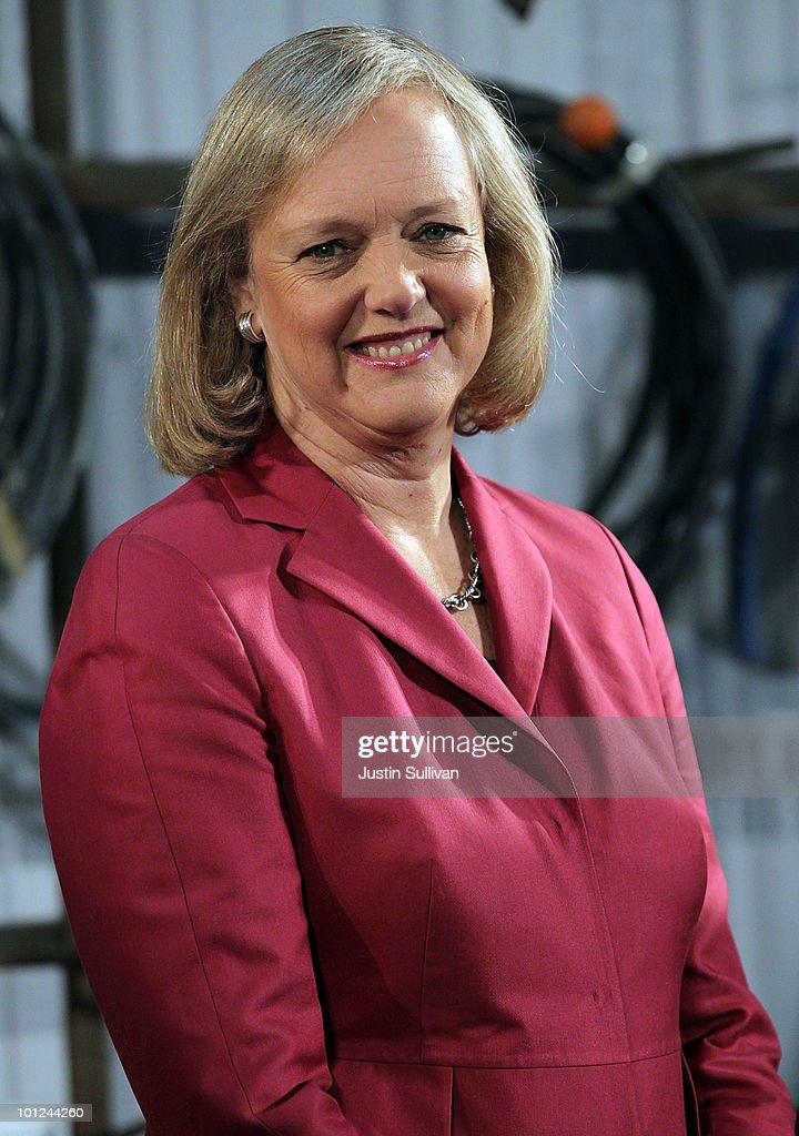 Republican Gubernatorial Hopeful  Meg Whitman Tours A Construction Plant