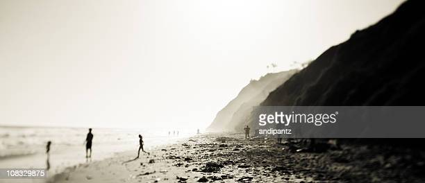california rocky coastline - incidental people stock pictures, royalty-free photos & images