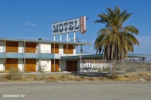 Usa California Salton Sea North S Derelict Motel Stock Photo Getty Images