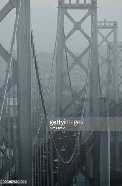 usa, california, san francisco bay, bay bridge, rush hour traffic - 1999 stock pictures, royalty-free photos & images