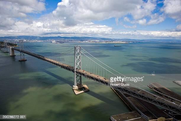 usa, california, san francisco, bay bridge - bay bridge stock pictures, royalty-free photos & images