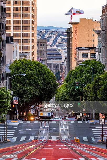 USA, California, San Francisco, Cable Car on Powell Street