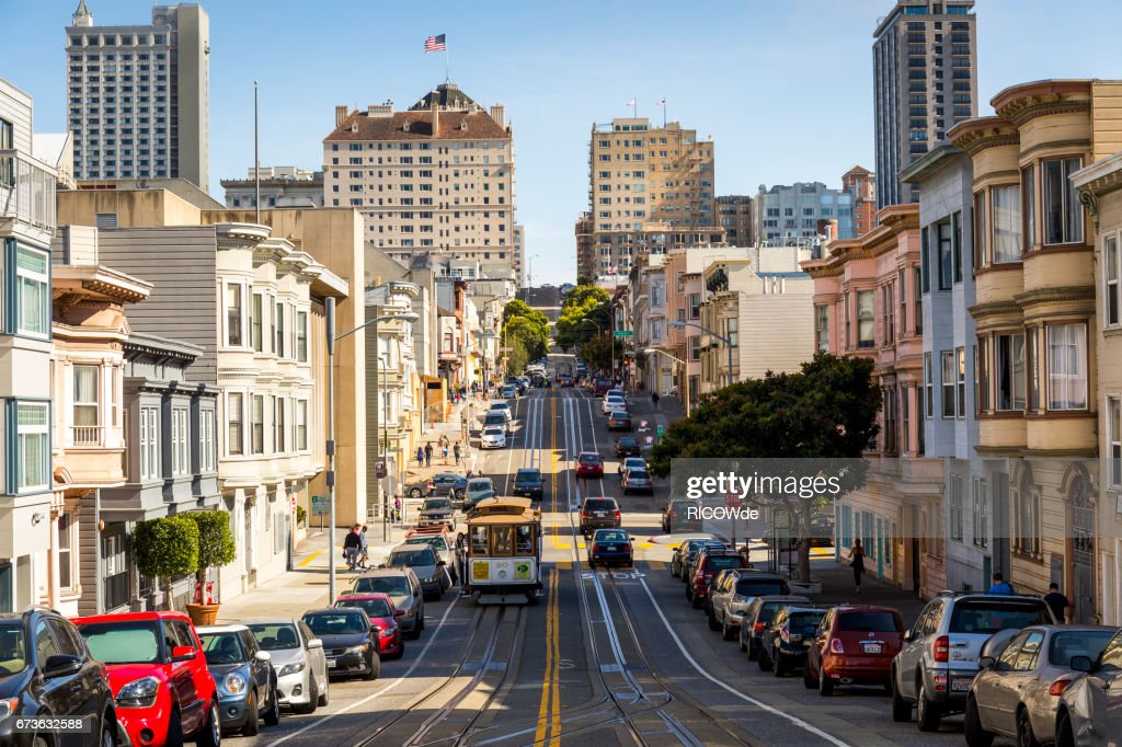 USA, California, San Francisco, Cable Car : Stock Photo