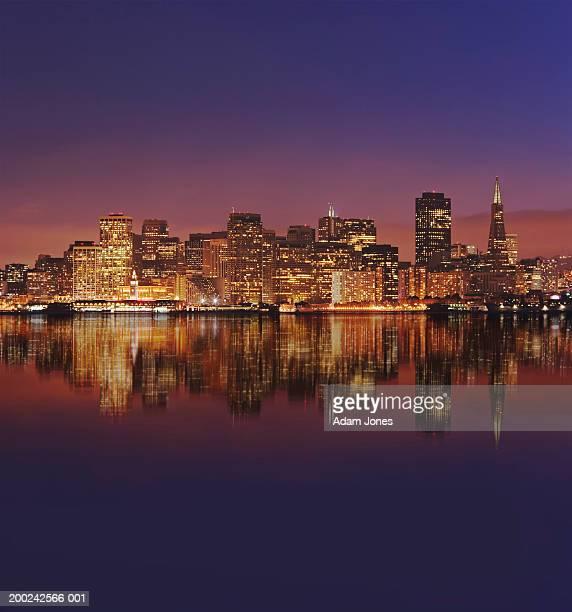 USA, California, San Francisco, city skyline, dusk (Digital Composite)