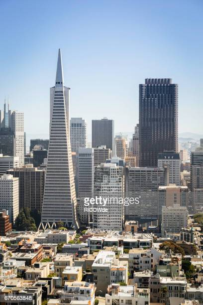 usa, california, san francisco, downtown san francisco - pyramid shapes around the house stock pictures, royalty-free photos & images