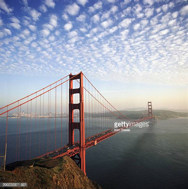 USA, California, San Francisco, Golden Gate Bridge, elevated view