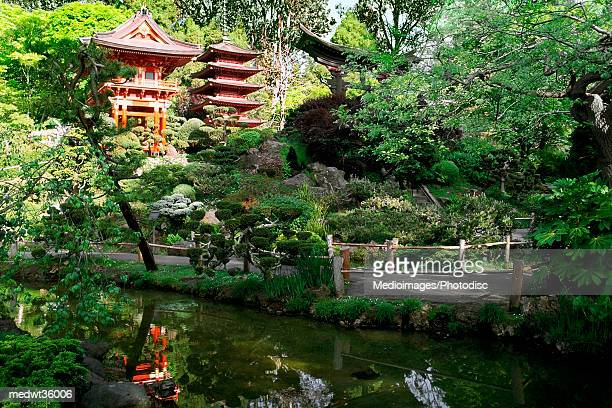 USA, California, San Francisco, Golden Gate Park, Japanese Tea Garden, Buddhist Temple