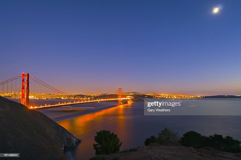 USA, California, San Francisco, Night view : Stock Photo