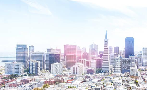 USA, California, San Francisco, Skyline. Aerial View. City Of The Future. Wall Art