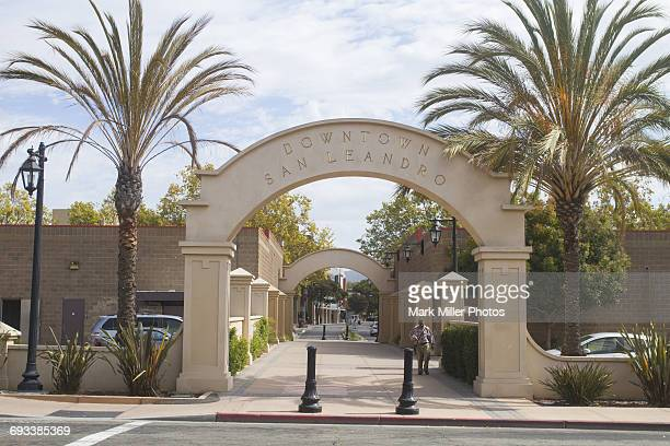 usa, california, san leandro, downtown - san leandro stock photos and pictures