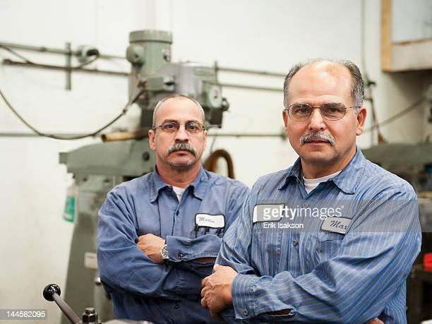 usa, california, santa ana, portrait of skilled workers in factory - santa ana california stock pictures, royalty-free photos & images