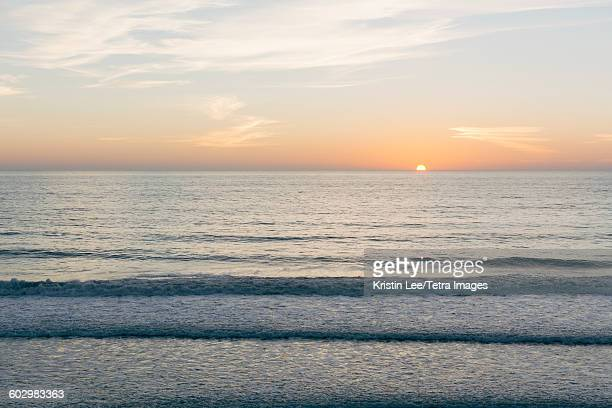 USA, California, Scenic seascape at sunset