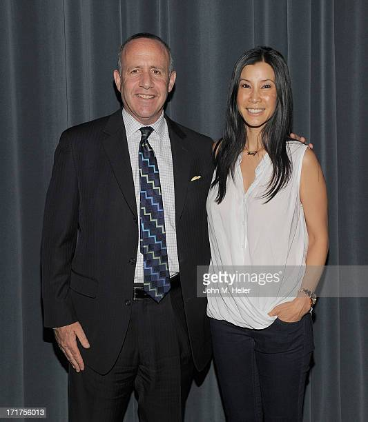 California Senate President pro tem Darrell Steinberg and Documentarian and Director of Gods and Gays Lisa Ling attend the screening of Gods and Gays...