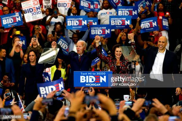 California Senator Kamala Harris Democratic presidential candidate former Vice President Joe Biden Michigan Governor Gretchen Whitmer and New Jersey...