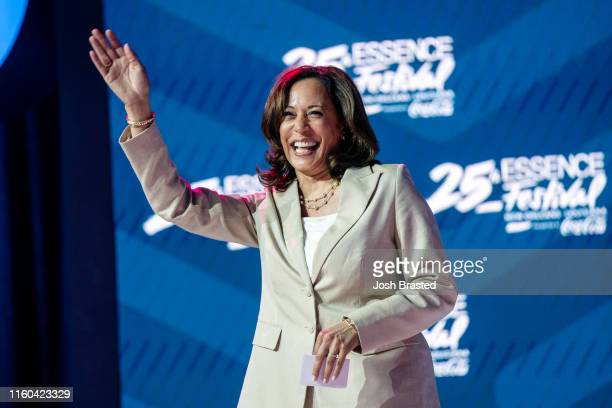 California Senator Kamala Harris speaks during the 25th Essence Festival at Ernest N Morial Convention Center on July 06 2019 in New Orleans Louisiana