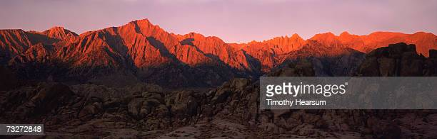 """""""usa, california, sierra nevada mountains, alabama hills, near lone pine, boulders in foreground"""" - timothy hearsum stock photos and pictures"""