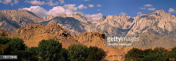 """usa, california, sierra nevada mountains, near lone pine, mountains with hills and trees"" - timothy hearsum stock pictures, royalty-free photos & images"