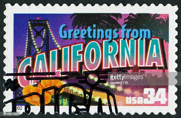 california stamp - postage stamp stock pictures, royalty-free photos & images