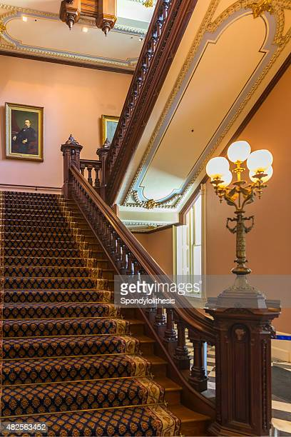 california state capitol staircase in sacramento, ca, usa - capital cities stock photos and pictures