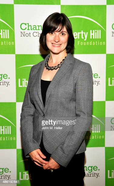 California State Senate candidate Sandra Fluke attends the Liberty Hill's Upton Sinclair Awards dinner at The Beverly Hilton Hotel on April 22 2014...