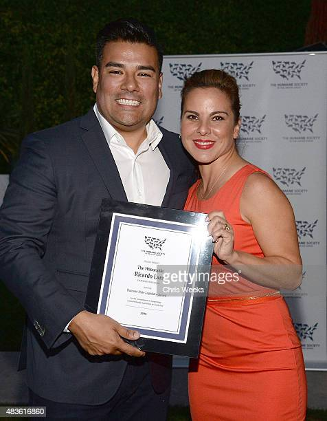 California State Senator Ricardo Lara and actress Kate Del Castillo attend the presentation of The Humane Society of the United States 'the Humane...