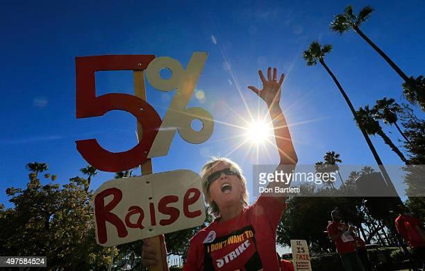 BEACH CALIF TUESDAY NOVEMBER 17 2015 California State UniversityFullerton english teacher Michelle Luster joins hundreds of California State...