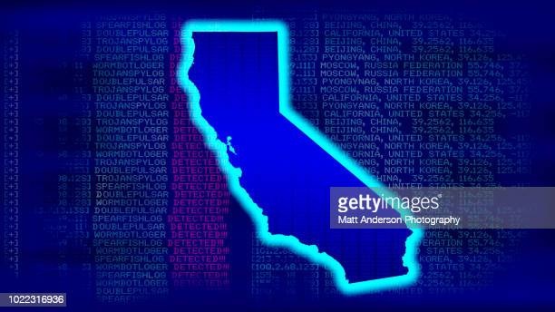 california - state with malicious code - electoral college stock pictures, royalty-free photos & images