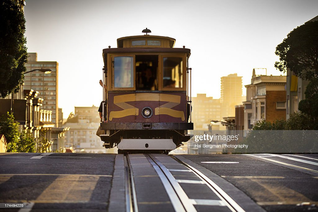 California Street Cable Car : Stock Photo