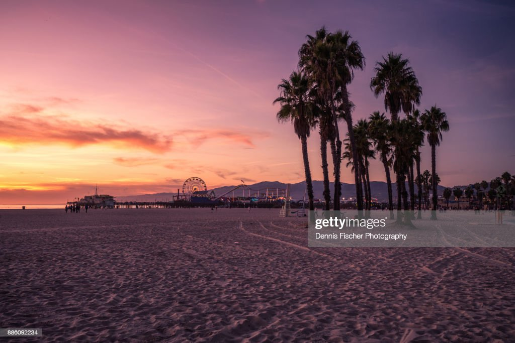 California sunset at the beach : Stock Photo