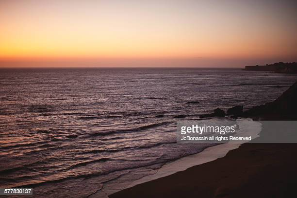 california sunset. ocean side - jcbonassin stock pictures, royalty-free photos & images