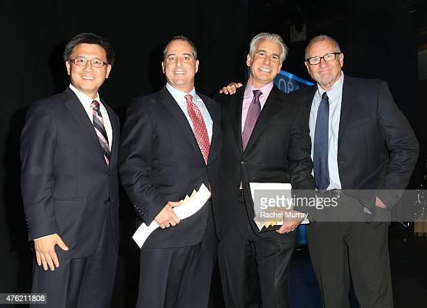California Tresurer John Chiang honorees The Angeleno Group CoFounder Yaniv Tepper The Angeleno Group CoFounder Daniel Weiss and actor Ed O'Neil...