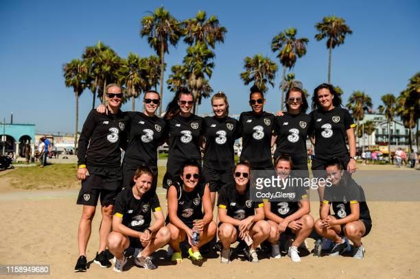 California , United States - 2 August 2019; Teammates, back row from left, Diane Caldwell, Claire O'Riordan, Lauren Dwyer, Eabha O'Mahony, Rianna...