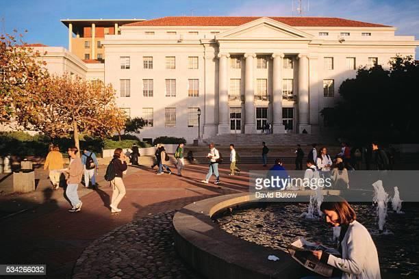 California: University of California, Berkeley campus and main library.